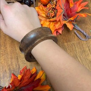 Wooden bangle super chic cute pretty BoHo brown